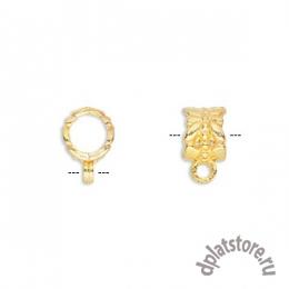 Бусина бейл золото с бабочкой 1 шт