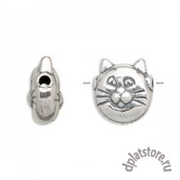 Бусина кошка серебро 925 пр. 1 шт