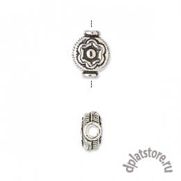 Бусина с цветком серебро 925 пр. 1 шт