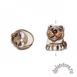 Бусина кот керамика полостатый 1 шт