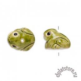 Бусина лягушка керамика салатовая 1 шт