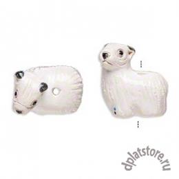 Бусина овечка керамика 1 шт