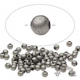 Бусины мелкие цвет состаренное серебро 100 шт