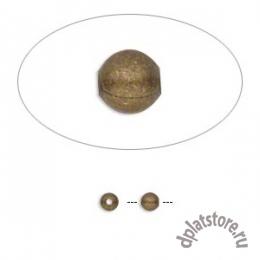 Бусины мелкие старое золото 100  шт