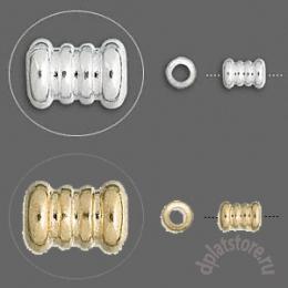 Бусины ребристые трубочки большие 10  шт