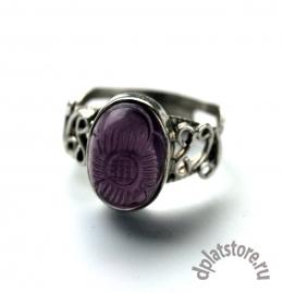 Серебряное кольцо 925 пр. с фиолетовой вставкой р-р 17,5