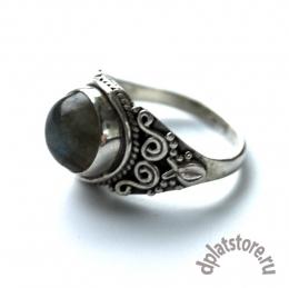 Серебряное кольцо 925 пр. с лабрадоритом  р-р 18