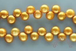 Жемчуг золото круглая пуговка 8 мм 10 шт