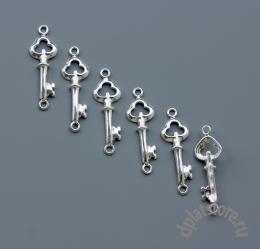 Подвеска коннектор ключ серебро 925 1 шт