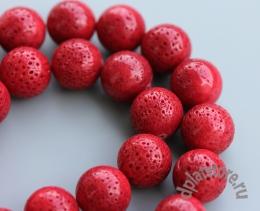 Коралл губчатый красный 1 шт