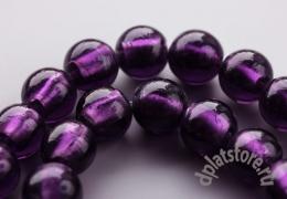Бусины лампворк фиолетовые 1 шт