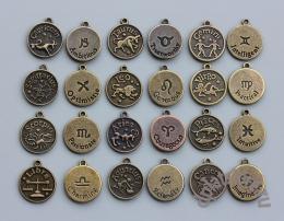 Подвески знаки зодиака латунь и медь 1 шт