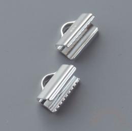 Зажим для ленты серебро 925 1 шт