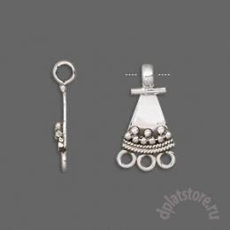 Коннектор треугольник серебро 925 1  шт