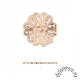 Филигрань медь цветок  2 размера 1 шт