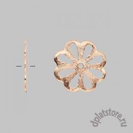 Филигрань медь цветок 1 шт
