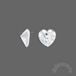 Фианит подвеска сердце 1 шт