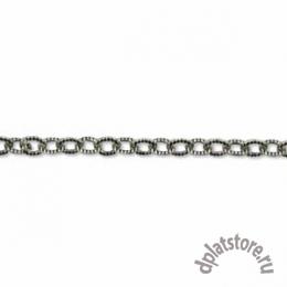 Цепочка из серебра 925 пр. текстура звено 1,9 мм отрезок 50 мм