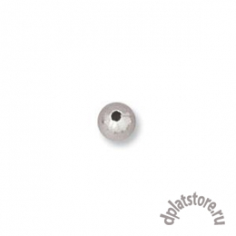 Бусины серебро 925 пробы 3 мм 10 шт (УПАК. 10 ШТ.!!!)