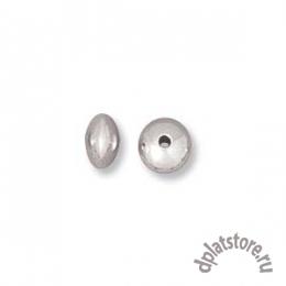 Бусины рондели серебро 925 пробы 4.6 мм 10 шт (УПАК. 10 ШТ.)
