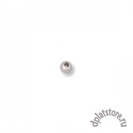 Бусины серебро 925 пробы 2 мм 100 шт