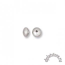 Бусины рондели серебро 925 пробы 3.4 мм 10 шт (УПАК. 10 ШТ.)