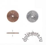 Бусина диск текстурированный 12 мм 1 шт