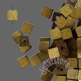 Бусины деревянные кубики 10 шт