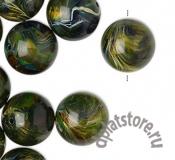Бусина акрил зеленая 16 мм 1 шт