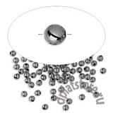 Бусины мелкие черненый металл 10 шт