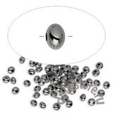 Бусины мелкие рондели черненый металл 10 шт