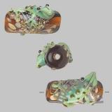 Бусина туба с лягушкой 1 шт