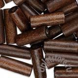 Бусины дерево коричневый 10 шт