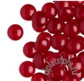Кабошон акрил красный 2 размера 1 шт