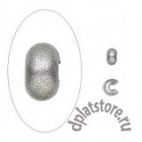 Покрытие кримпов для бус состаренное серебро 10 шт