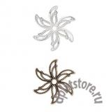 Филигрань остроконечный цветок винтаж 1 шт