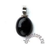 Серебряный кулон 925 пробы с черным агатом