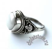 Серебряное кольцо 925 пр. с жемчугом р-р 18