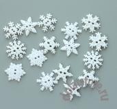 Комплект или поштучно пуговицы снежинки