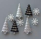 Комплект или поштучно снежинки и елки