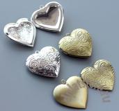 Медальон открывающийся сердце среднее 1 шт