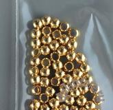 Бусины мелкие позолота 3 мм 100  шт