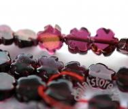 Гранат цветок резной бусины 10 шт