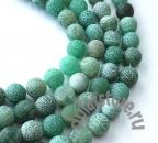 Агат кракле зеленый нитка