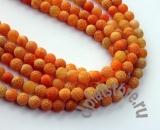 Агат кракле оранжевый 1 БУСИНА