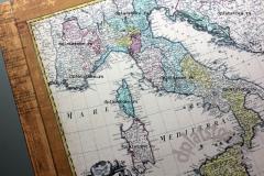 """Бумага """"Италия - Географическая карта"""" 1 лист"""