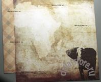 """Бумага """"Африка - Слоны"""" 1 лист"""