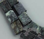 Змеевик темно-зеленый прямоугольник 1 шт