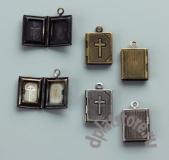 """Открывающийся медальон """"Библия"""" 1 шт"""