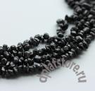 Черная шпинель галтовка/крошка 7-8 мм нить